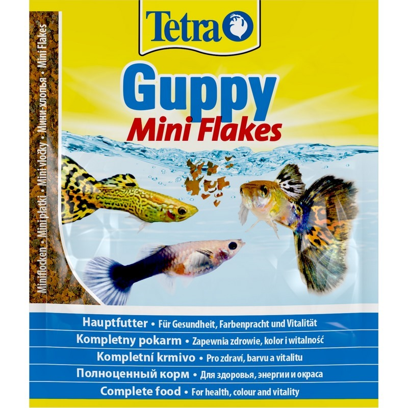 Tetra Guppy (mini-flakes) For All Kinds Of Guppies, 12G.