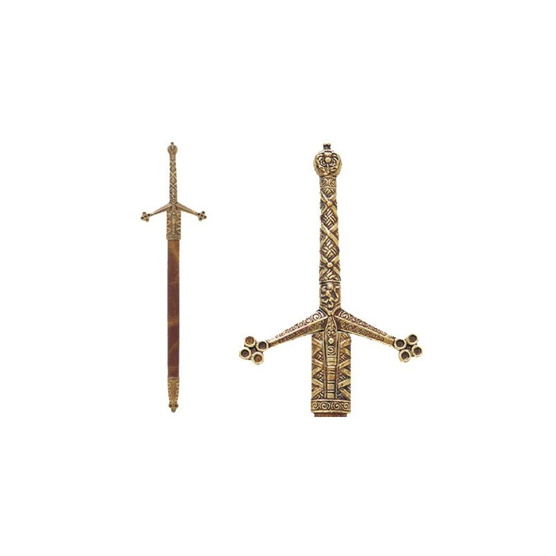 Letter Opener Claymore Sword With Scabbard (30cm)