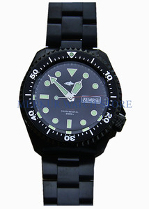 Sharkey nh36movement masculino skx007 relógio de mergulho vintage automático