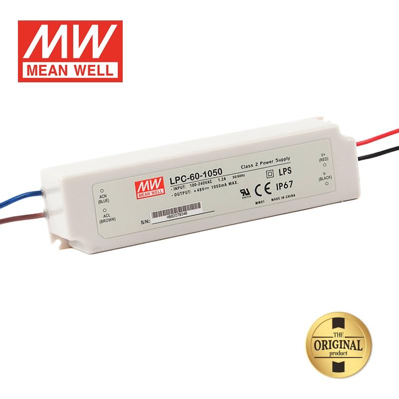 LPC-60-1050, 9 ~ 48VDC 1050mA 50W с драйвером постоянного тока для светодиода, MeanWell