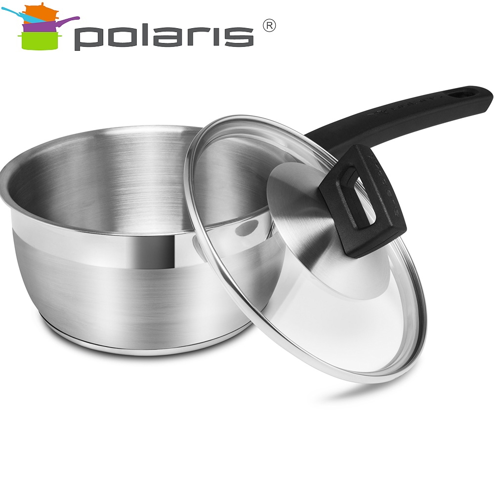Bucket with lid Polaris Rialto-16SP Kitchen set stainless steel steel cookware Tableware with lid ladle mug with lid