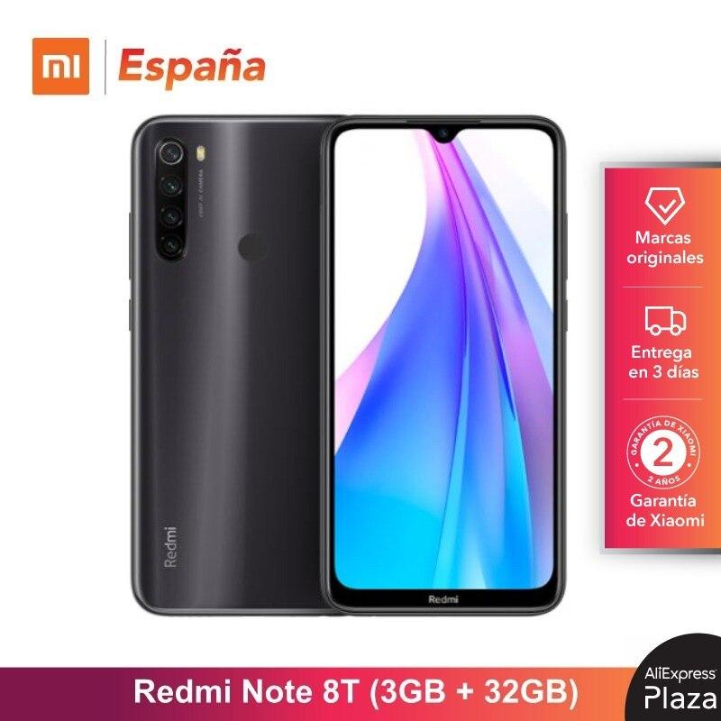 Xiaomi Redmi Note 8T (32GB ROM, 3GB RAM, 13MP Frontal Cámara, Batería de 4000 mAh, Android, Nuevo, Libre) [Teléfono Movil Versión Global para España] note8t