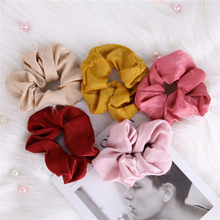 2020 Fashion Girls Satin Elastic Hair Band Solid Women Hair Rope Female Ponytail Holder Scrunchies Hair Ring Hair Accessories(China)
