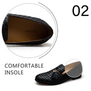 Image 3 - MEIJIANA Genuine Leather Men Loafers Shoes Fashion BV Breathable Comfortable Men Loafers Luxury Mens Flats Men Casual Shoes