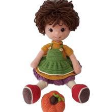 Oyuncak Amigurimi Bebek El Zanaatı Kız Çocuğu Doldurulmuş Yumuşak Oyun Arkadaşı Tığ Örgü Yeşil Mavi Kırmızı Güvenli Sevimli
