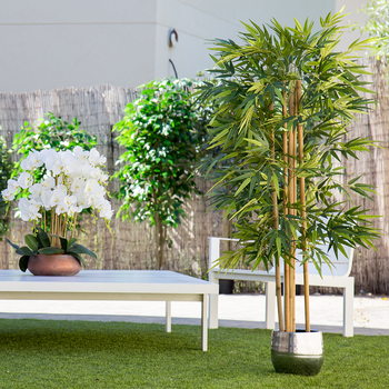 Artificial plant, tree with natural logs, for home decoration, bamboo, Ficus, Wisteria, olive, eucalyptus, Almond logs