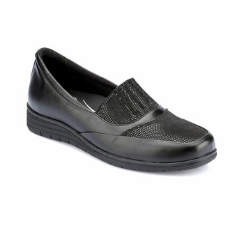 FLO 82 100176SZ czarne buty damskie Polaris 5 punkt tanie i dobre opinie Polaris 5 Nokta Trzciny