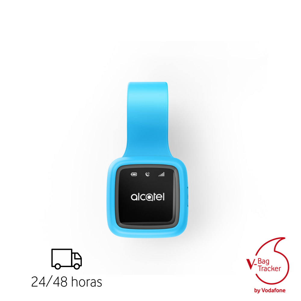 V-BAG by Vodafone Alcatel Localizador GPS 2G/ GPRS con Alerta para Maleta Bolso Personas Mascotas Moto Rastreador Mini GPS niños