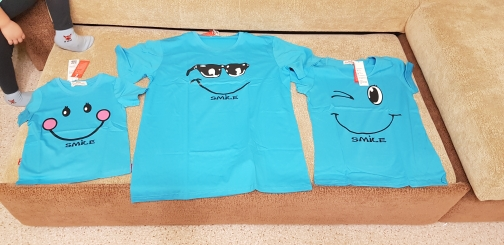 Smile Printed Family Matching Cotton Outfits photo review