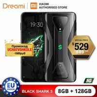 UE Versão Xiaomi Black Shark 3 5G 8GB de Ram de 128GB Rom  5G Jogos de telefone [Recentemente O Lançamento de Promo] blackshark3 Smartphone Móvel