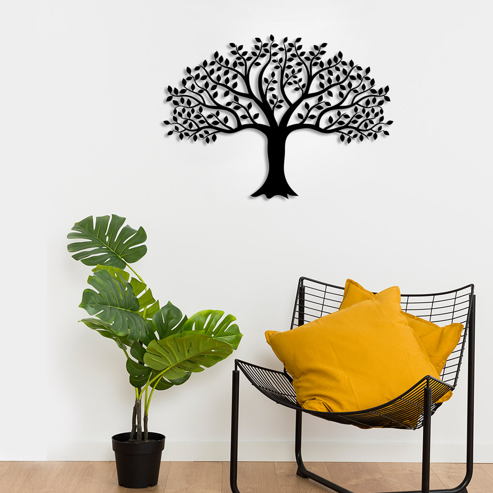 Wide And Multi-branches Tree Of Life Wall Room Accessory Wooden Table 50x36cm Complete In Specifications