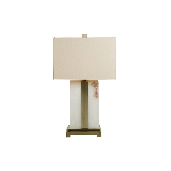 Desk Lamp Alabaster (43 X 71 X 43 Cm)
