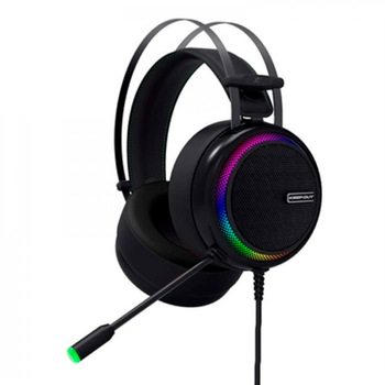 Gaming Headset with Microphone KEEP OUT HXPRO Black
