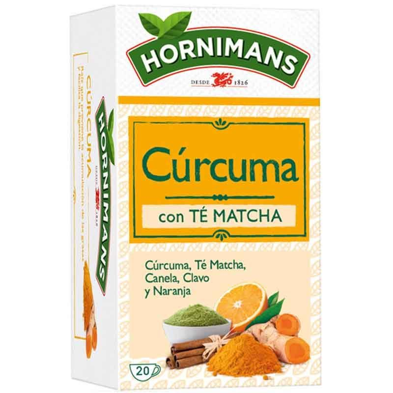 Infusion Turmeric With Matcha Tea, Cinnamon, Cloves And Orange. 20 Bags Hornimans