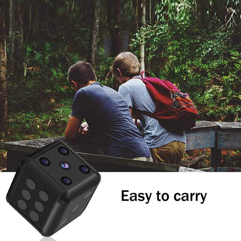 Mini cámara 1080P, videocámara Full HD, Mini cámara de acción infrarroja de visión nocturna, Micro cámara de detección de movimiento deportiva DV, compatible con tarjeta TF oculta