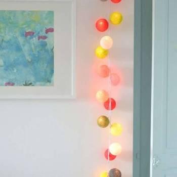 Guirnalda De 15 Bolas Luminosas Con Batería