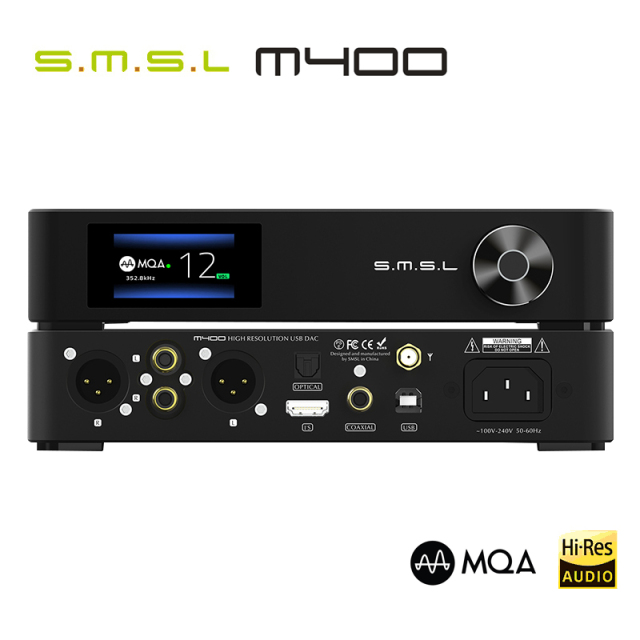 SMSL M400 MQA DAC AK4499 Full Balanced aptX-HD Bluetooth5.0 DSD Decoder 1