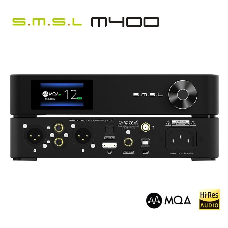 SMSL M400 MQA DAC AK4499 Full Balanced AptX-HD Bluetooth5.0 DSD Decoder