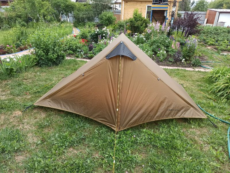 2021 LanShan 2 FLAME'S CREED 2 Person Outdoor Ultralight Camping Tent 3 Season Professional 15D Silnylon Rodless Tent