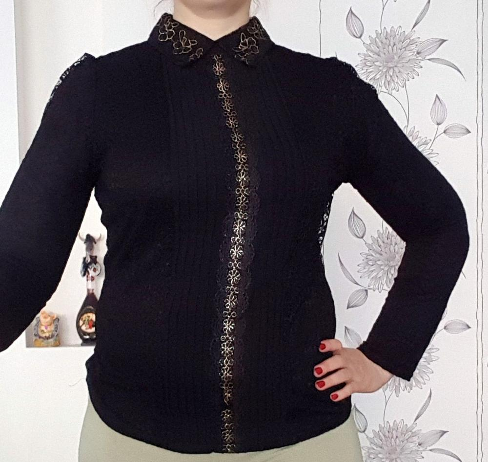 Autumn And Winter Lace Women Tops And Blouses Solid Floral Female Shirts Long Sleeved Elegant Ladies Feminine Blusa photo review