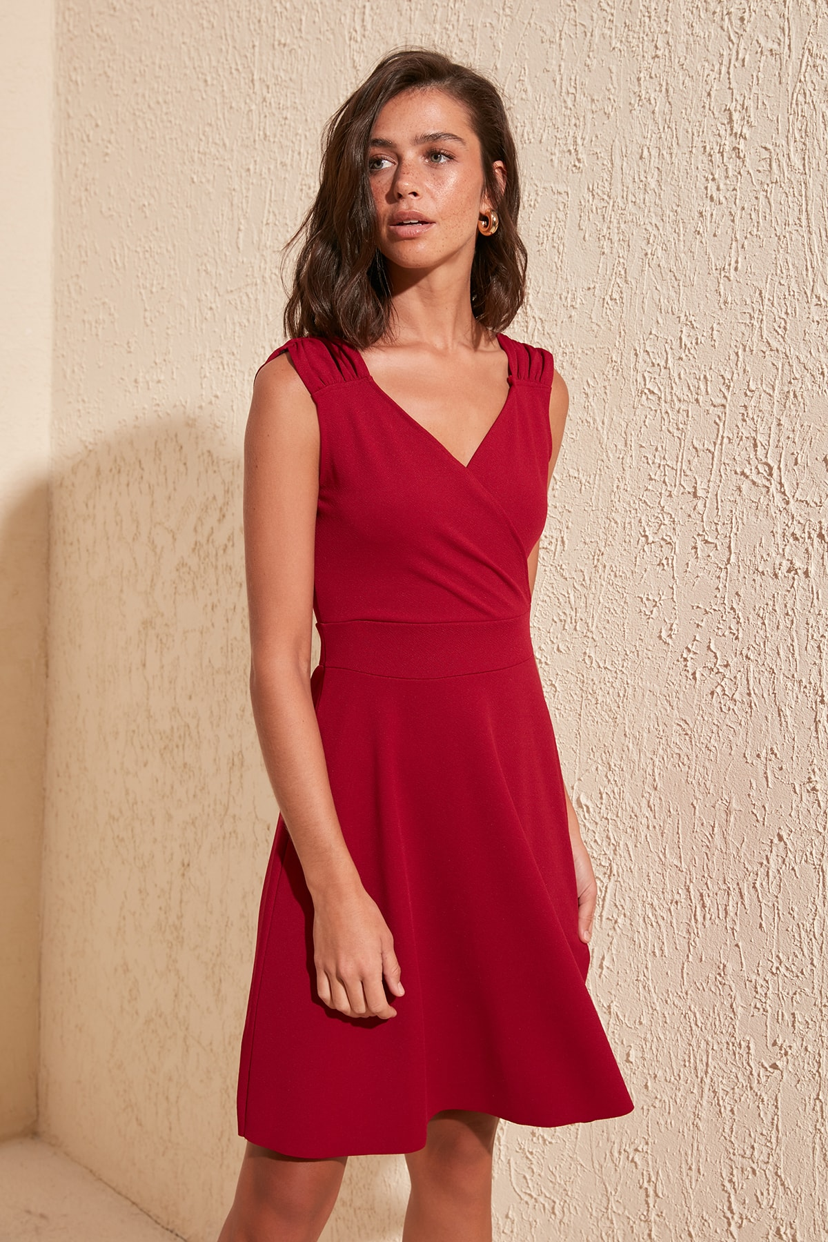 Trendyol Double Breasted Collar Knitted Dress TWOSS20EL1579