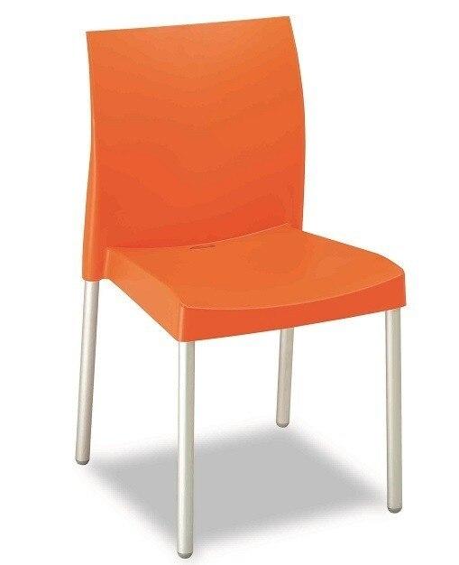 Chair SANDRA, Aluminum, Polypropylene Orange *