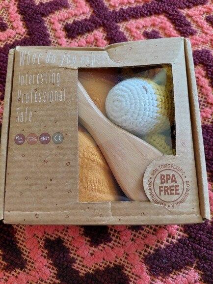 Bopoobo 1Set Bath Toys Set Kid Swaddle Wrap Baby Milestones Brush Rattle Bracelet Bibs Photography Supplies Birth Gift Product photo review
