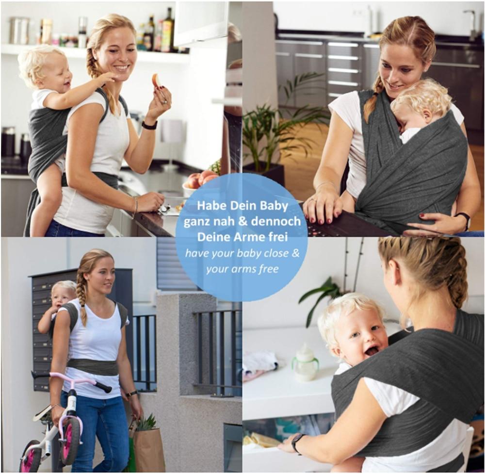 Купить с кэшбэком Baby Carrier Sling for Newborns Sling Ring Ergo Backpack Wrap Baby Kangaroo Manduca Infant  Breathable  Baby Holder