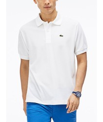LACOSTE POLO L.12.12 BASIC poloshirts fashion short sleeve white color BRand Crocodile for men