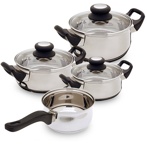 Посуда из нержавеющей стали (7 шт.)
