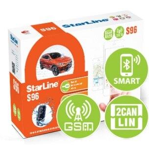 Alarme de carro starline s 96 bt gsm 2can + lin