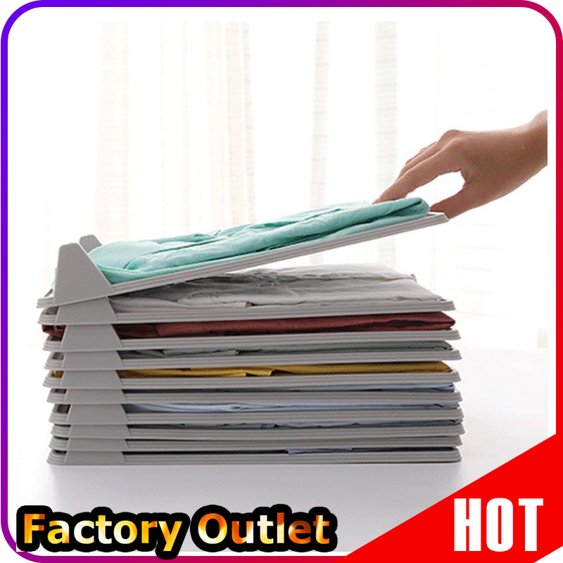 10/15pcs Quality Adult Clothes Folder T-<font><b>Shirt</b></font> Jumpers <font><b>Organizer</b></font> Fold Save Time Quick Folding Board Clothes Holder Home Storage image