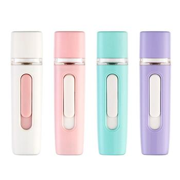 Handheld Nano Mist Facial Humidifier Fog Water Steamer Beauty Hydrating Device Face Care Tool Spray Water Meter Skin Whitening 2019 drop shpping abs white humidifier water replenishing instrument nebulizer mini fashion facial beauty skin care hydrating