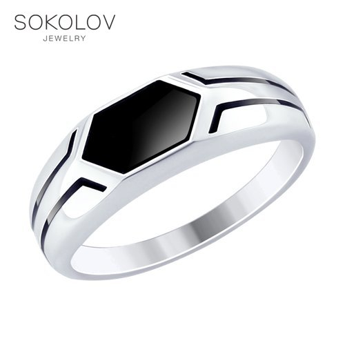 Ring. Sterling Silver With Enamel Fashion Jewelry 925 Women's Female Women's Female Men's Male