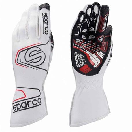 S00255408BI-Gloves flèche Evo Kg-7.1 blanc taille 08 Sparco