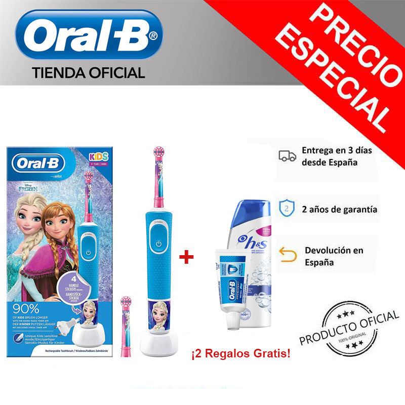 Oral-B Vitality KIDS Frozen, Star Wars, Stages Frozen, star Wars Toothbrush electrics + Gift sampoo H & S and Toothpaste teeth image