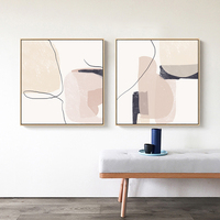 لوحات تجريدية برسومات هندسية من الرخام البيج على شكل لوحات قماشية مطبوعة على شكل لوحات جيكلي فنية لتزيين جدران غرفة المعيشة ديكور منازل