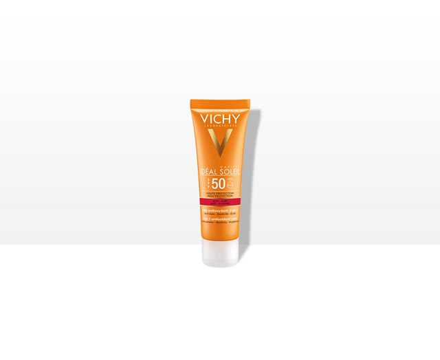 Vichy Ideal Soleil High Protection Anti Aging Sun Face Care Cream - SPF 50 (UVA+UVB)