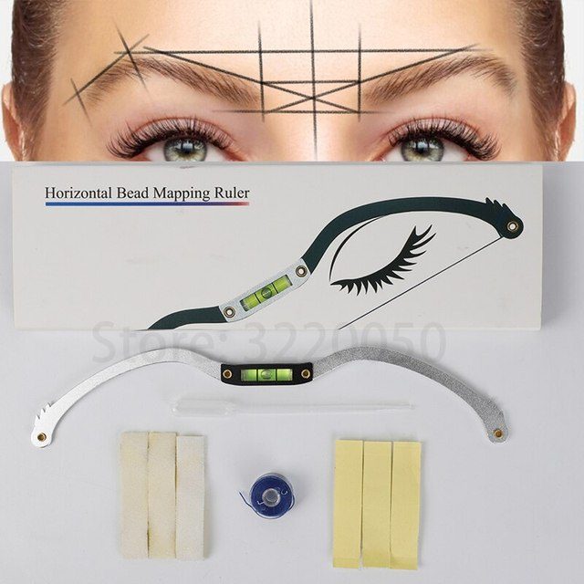 microblading ruler Mapping string measure mapping thread eyebrow marker Tattoo accesories Mapping Bow 2nd Gen with built level 1