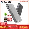 WZATCO T5 Portatile MINI DLP 3D Proiettore 4K 5G WIFI Astuto di Android per Home Theater Beamer Full HD 1080P lAsEr Video Proyector