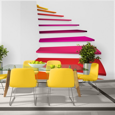 Photo Wallpaper-Steps Rainbow