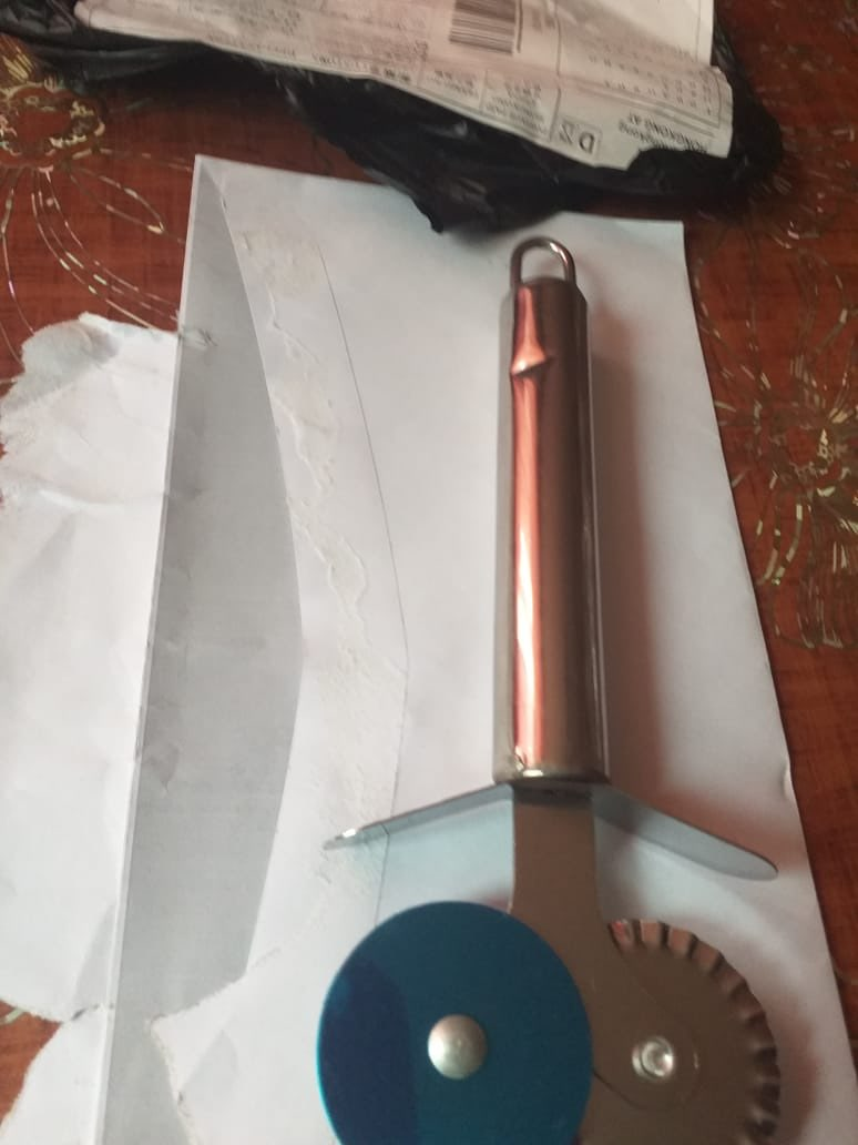 Double Kitchen Copper Pizza Cutter photo review