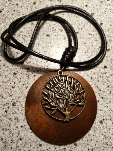Collier arbre de vie bois