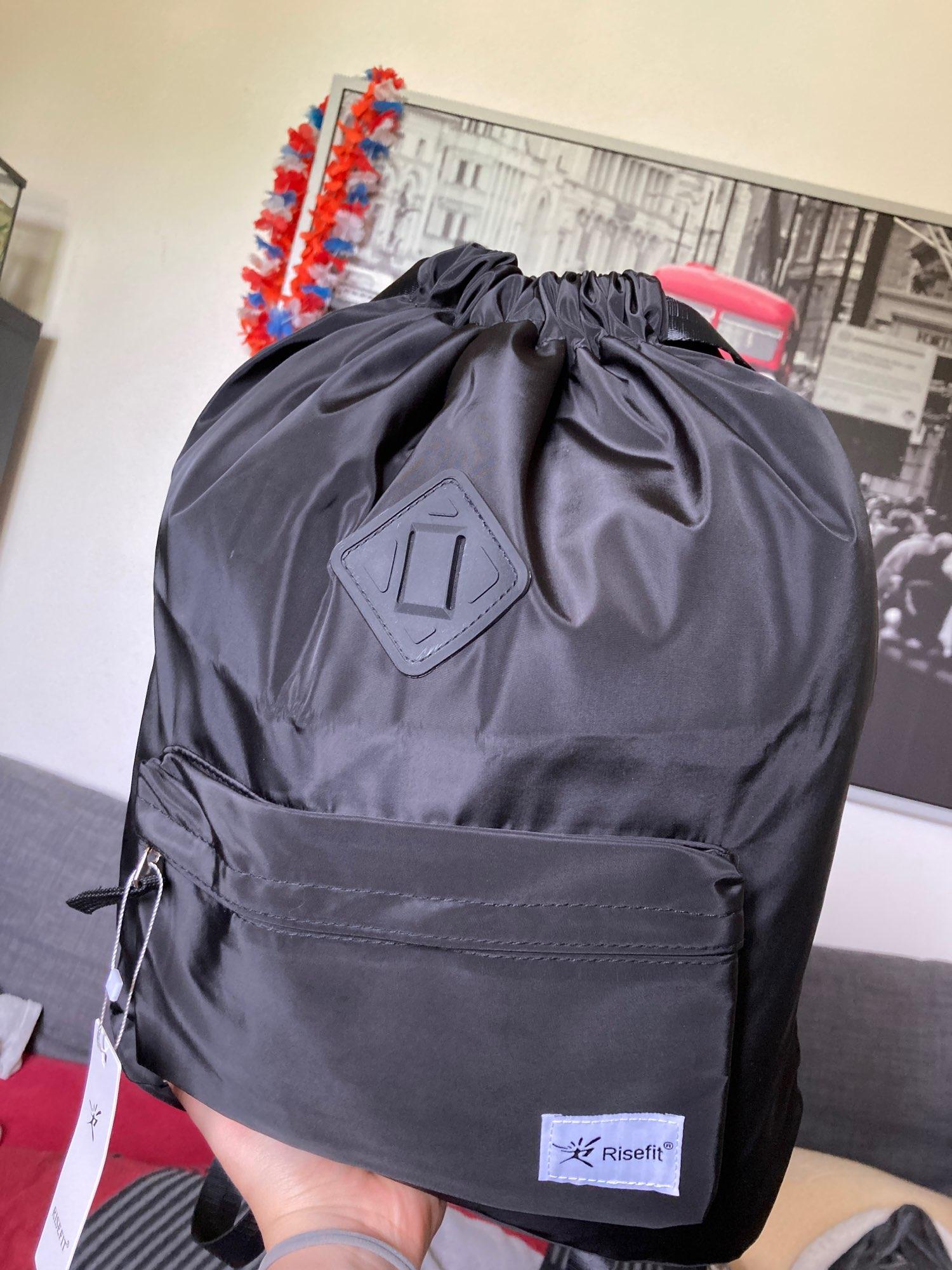 Waterproof Sports Drawstring Backpack photo review
