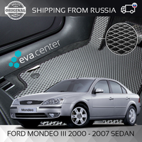 Car Mats Eva for Ford Mondeo III 2000 - 2007 sedan set of 4x mats and jumper tunnel/Eva mats car stickers