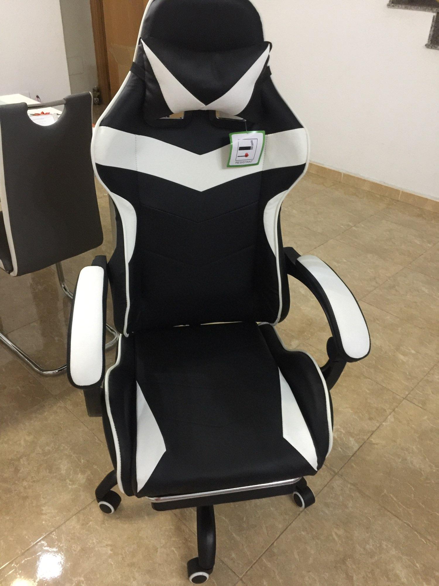 Chaise de bureau de Gaming en cuir, siège pivotant et ergonomique de Gaming