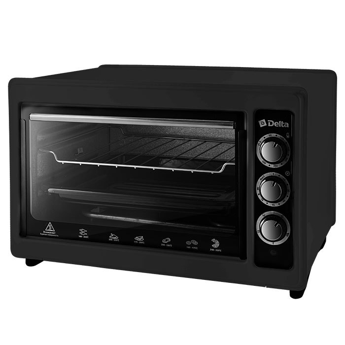 Oven Electric 1300 W 37 L Delta D-0123 Black