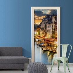 Фото обои для двери-Венецианская гавань
