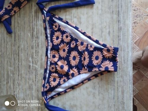 Brazilian Floral Printed Push Up Bikini Set photo review