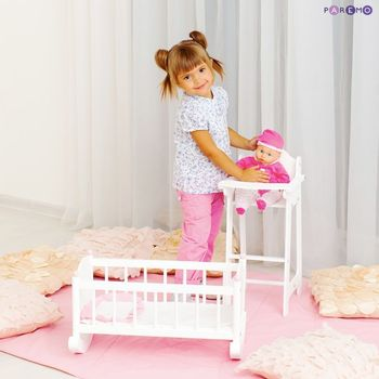 Furniture Toys PAREMO  A set of doll furniture (Chair + cradle), White color for children toys for kids game furniture dolls doll houses furniture for bed for accessories doll for marie a